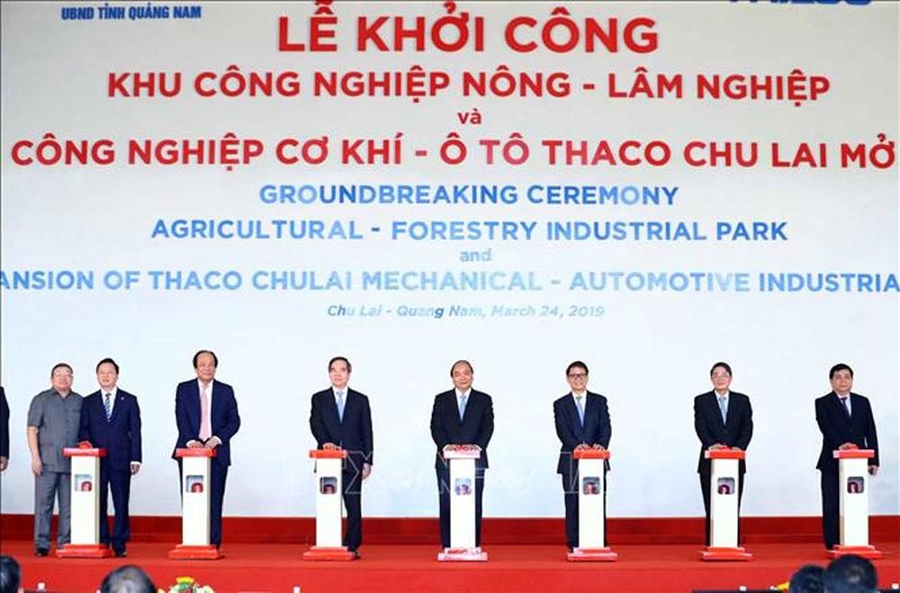 Khởi công xây dựng KCN nông - lâm nghiệp và KCN cơ khí ô tô Chu Lai mở rộng